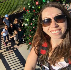 Charlene Powers Broadbent, CJ Broadbent, Cheryl Sedig, Serbin Family decorating Buckeye Christmas Tree