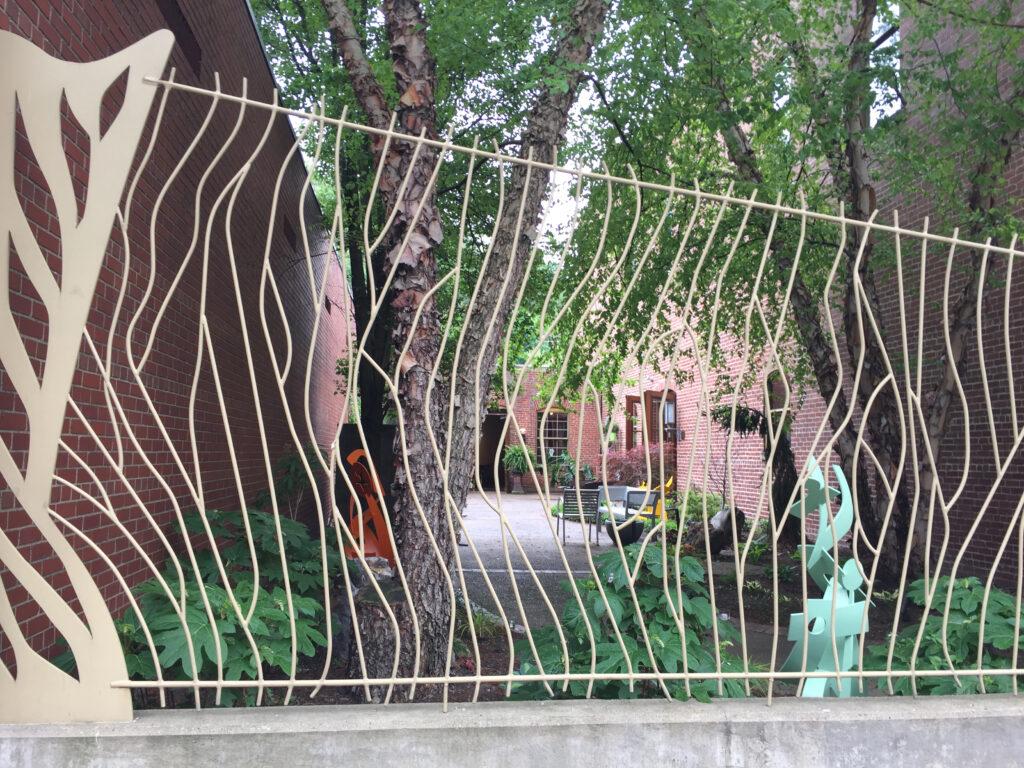 Hidden Sculpture Courtyard Overflow for Gallery Event Rentals.
